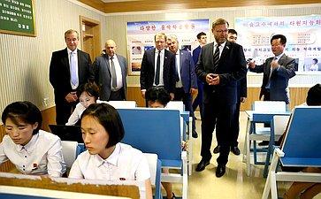 Посещение Пхеньянского педагогического института