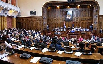 Выступление Председателя СФ В.И.Матвиенко наЧетырнадцатом внеочередном пленарном заседании Народной скупщины Республики Сербии