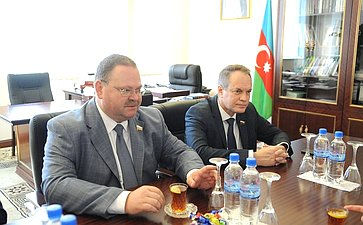 Делегация Совета Федерации воглаве сО.Мельниченко посетила свизитом Азербайджанскую Республику