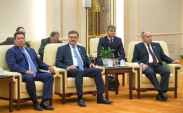 Члены делегации Совета Федерации навстрече сПредседателем КНР