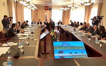Заседание членов группы посотрудничеству Совета Федерации спарламентом Японии, представителями Парламентской ассоциации японо-российской дружбы