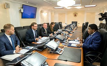 Встреча К.Косачева сГенеральным секретарем МПС М.Чунгонгом