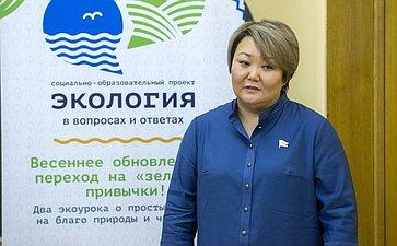 Впреддверии Невского международного экологического конгресса Т.Мантатова приняла участие вакции, посвященной охране окружающей среды