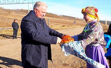Встреча Вячеслава Наговицына сглавами поселений, депутатами ижителями Джидинского района