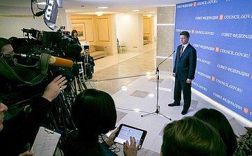 Брифинг для СМИ Максима Соколова