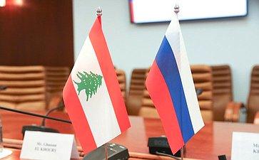 Встреча Сергея Кисляка спредседателем христианской партии Ливана «Свободное патриатическое движение» Джебраном Бассилем