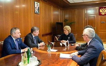 Встреча В. Матвиенко сруководством Кировской области