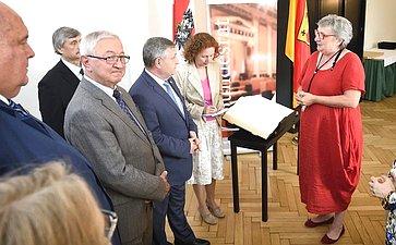 Встреча сенаторов сПрезидентом Федерального Совета Инге Пош-Груска