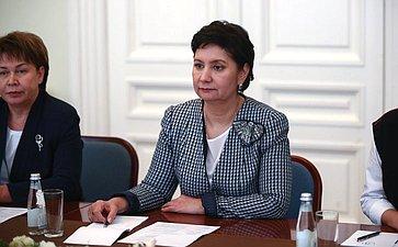 Г. Карелова провела встречу сГосударственным секретарем Республики Казахстан Г. Абдыкаликовой иПредседателем Республиканского совета женщин Казахстана Н. Каюповой