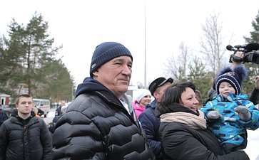 Церемония открытия ледового стадиона «Онежец»