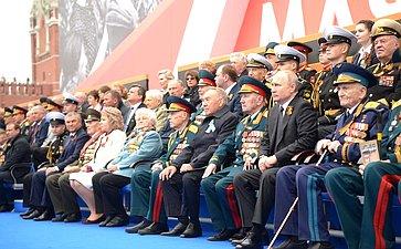 Военный парад послучаю 74-й годовщины Победы вВеликой Отечественной войне