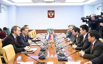 Встреча К. Косачева снаблюдателями отпарламента Монголии