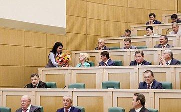 Награждение Наталии Дементьевой на 358 заседании Совета Федерации