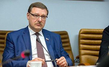 К.Косачев встретился счленом фракции Европарламента «Европейская народная партия» С.Мауллу