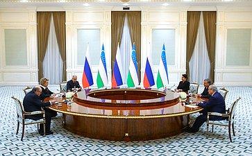 Встреча Председателя Совета Федерации сПрезидентом Республики Узбекистан