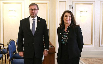 Встреча Константина Косачева сМинистром иностранных дел Швеции, Действующим председателем ОБСЕ Анн Линде