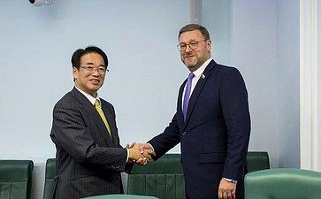 Встреча К. Косачева сЧрезвычайным иПолномочным Послом Японии вРоссии Т.Кодзуки