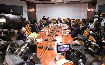 Заседание Комиссии СФ поинформационной политике ивзаимодействию соСМИ