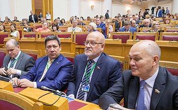 Пленарное заседание VII Невского международного экологического форума. Полетаев, соболев, Щетинин