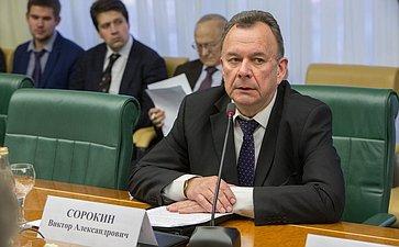 Заседание Комиссии по мониторингу ситуации на Украине при Комитете Совета Федерации Сорокин