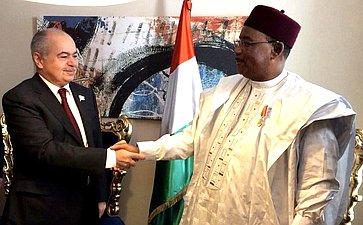 Встреча делегации Совета Федерации сПрезидентом Республики Нигер Махамаду Иссуфу