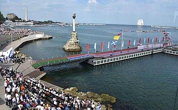 Е. Алтабаева приняла участие впрошедших вСевастополе торжественных мероприятиях вчесть Дня Военно-Морского Флота
