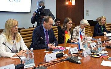 Встреча С. Кисляка счленом Бундестага ФРГ Александром Ламбсдорффом