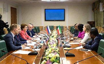 Встреча Г.Кареловой сПредседателем Сената Экваториальной Гвинеи