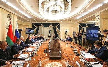 Заседание Межпарламентской комиссии СФ иСовета Республики Национального собрания Республики Беларусь помежрегиональному сотрудничеству