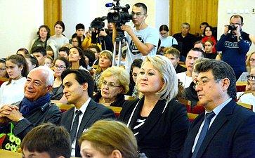 Лилия Гумерова врамках фестиваля встретилась сдирижером иВладимиром Спиваковым ивоспитанниками Благотворительного фонда