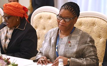 В. Матвиенко провела встречу сПредседателем Национального совета провинций Парламента ЮАР Т. Модисе