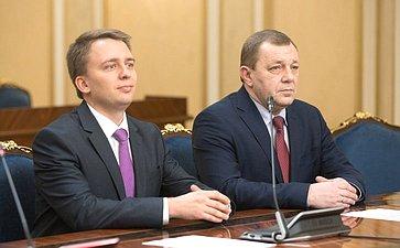 Встреча В. Матвиенко сруководителем госкорпорации «Ростех» С. Чемезовым