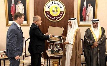 Рабочий визит делегации Совета Федерации воглаве сзаместителем Председателя СФ Ильясом Умахановым вГосударство Катар
