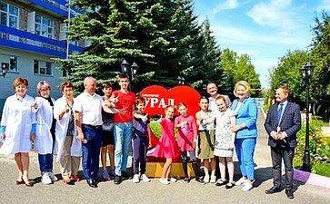 Л. Гумерова посетила социальные учреждения вУчалинском районе Республики Башкортостан