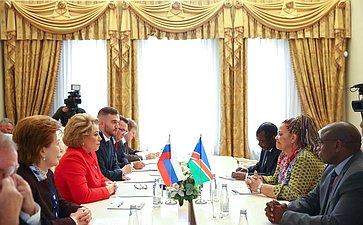 Встреча В. Матвиенко сделегацией Намибии