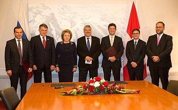 Делегация СФ приняла участие вцеремонии подписания Протокола онамерениях осотрудничестве между Краснодарским краем икантоном Тичино