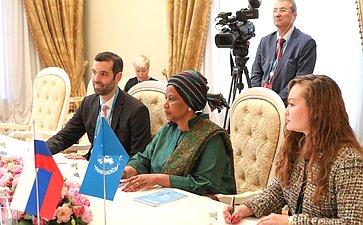 Встреча В. Матвиенко сзаместителем Генерального секретаря ООН, Исполнительным директором Структуры «ООН-женщины» Фумзиле Мламбо-Нгкугой