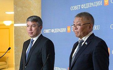 Члены делегации Республики Бурятия наДнях региона вСовете Федерации