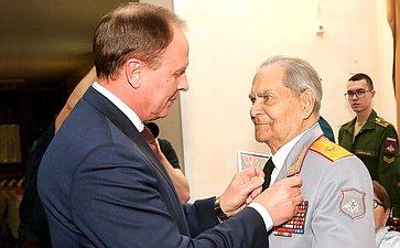 Торжественное мероприятие чествования 100-летнего юбилея ветерана Великой Отечественной войны В.Зибарева
