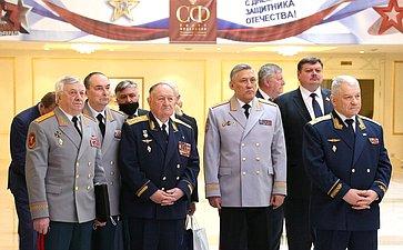 Открытие вСовете Федерации выставки Министерства обороны РФ