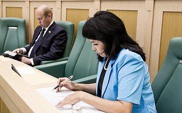 Галина Мунзук на 358 заседании Совета Федерации