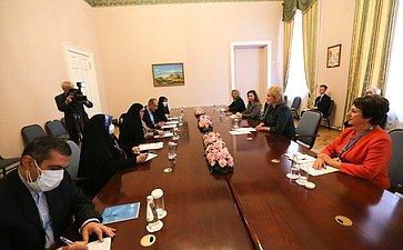 Встреча председателя Комитета СФ понауке, образованию икультуре Лилии Гумеровой спредседателем Комитета поделам семьи иженщин Собрания Исламского Совета Исламской Республики Иран Фатимой Гасемпур