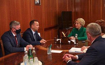 Встреча Председателя СФ Валентины Матвиенко сруководством Курганской области