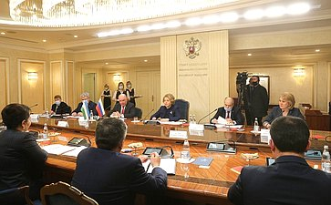 Встреча Валентины Матвиенко сПредседателем Сената Олий Мажлиса Республики Узбекистан Танзилой Нарбаевой