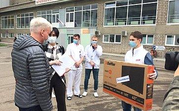 Вбольницы города Красноярска иКрасноярского края поступили подарки для медицинских работников