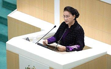 Председатель Национального собрания Социалистической Республики Вьетнам Нгуен Тхи Ким Нган
