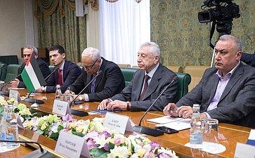Встреча Владимира Джабарова сГенеральным секретарем Демократического фронта освобождения Палестины Наефом Хаватме