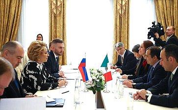 Председатель СФ В. Матвиенко встретилась сглавой Палаты сенаторов Генерального конгресса Мексики Э. Кордеро Арройо