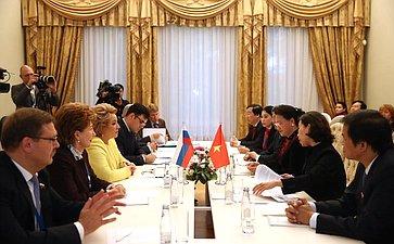 Встреча В. Матвиенко сПредседателем Национального собрания Вьетнама Нгуен Тхи Ким Нган