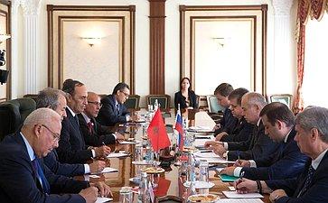 Встреча И. Умаханова сПредседателем Палаты представителей Парламента Королевства Марокко Хабибом Аль-Малики